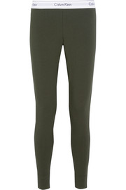 Modern stretch cotton-blend leggings
