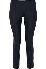 Caro cropped stretch wool and silk-blend skinny pants