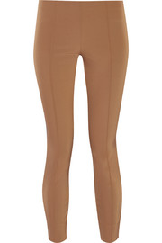 The Row Caro cropped stretch-twill skinny pants