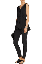 The Row Risia asymmetric stretch-jersey top