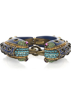 Lanvin | Crystal double bird bangle | NET-A-PORTER.COM from net-a-porter.com