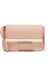 Eliza matte-leather shoulder bag