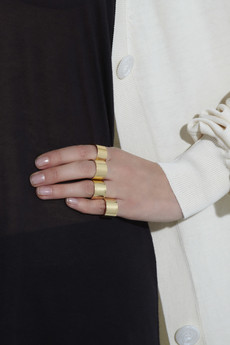 Maison Martin Margiela 23-karat gold plated ring set