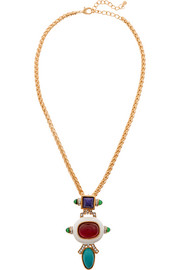 Gold-plated and enamel necklace