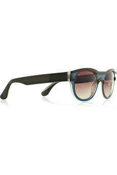 Cat-eye frame acetate sunglasses