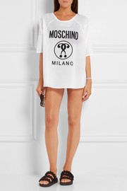 Moschino Oversized printed cotton-voile T-shirt