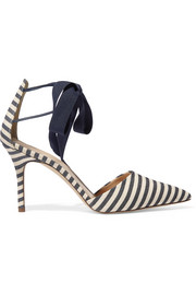 J.Crew Striped canvas pumps