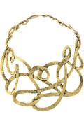 Yves Saint Laurent Entrel metal bib necklace