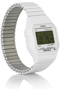 Timex80 | Metal digital watch | NET-A-PORTER.COM :  digital retro unisex timex