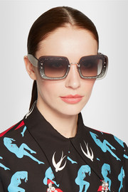 Miu Miu Square-frame acetate sunglasses