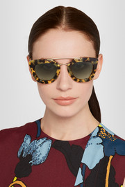 Prada D-frame acetate and metal sunglasses
