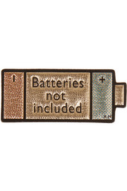 Batteries Not Included metallic textured-leather sticker