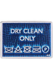 Anya Hindmarch Dry Cleaning metallic textured-leather sticker