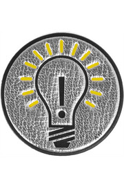 Light Bulb metallic textured-leather sticker