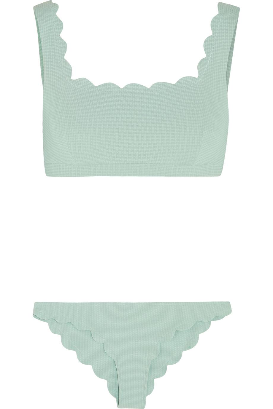 Marysia Palm Springs and Broadway Scalloped Bikini, Mint, Women's, Size: XS