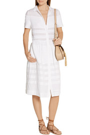 Chinti and Parker Pintucked cotton-voile dress
