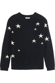 Chinti and Parker Star-intarsia cashmere sweater