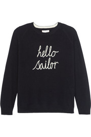 Chinti and Parker Hello Sailor intarsia cashmere sweater