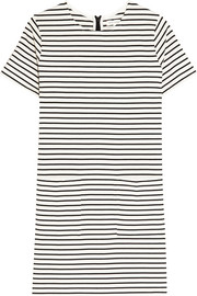 Striped cotton-jersey mini dress