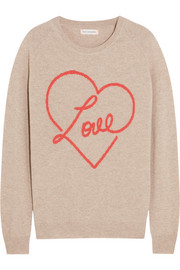Love intarsia cashmere sweater