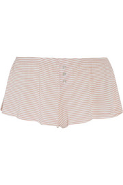 Love Letters striped modal-blend jersey pajama shorts