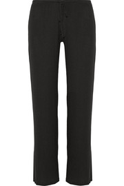 Hailey ribbed stretch-modal pajama pants