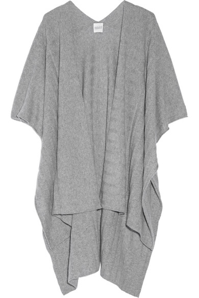 Madeleine Thompson - Ribbed Cashmere Wrap - Light gray