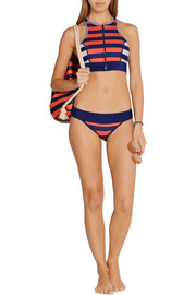 Duskii Saint Tropez striped neoprene bikini briefs