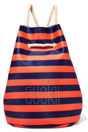 St Tropez striped perforated neoprene backpack