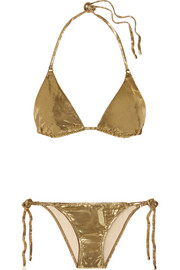 Sevilla metallic triangle bikini