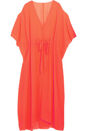 Holly cutout neon georgette kaftan