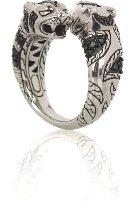 John Hardy - Sapphire and silver tiger ring