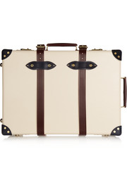 "The Goring 21"" leather-trimmed fiberboard travel trolley"