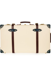 "The Goring 30""  leather-trimmed fiberboard travel trolley"