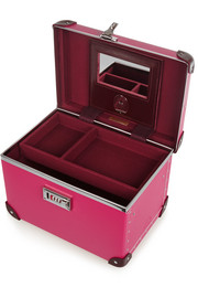"Candy 13"" leather-trimmed vanity case"