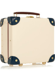 "The Goring 9"" mini leather-trimmed fiberboard travel trolley"