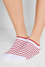 Falke Set of two striped stretch cotton-blend socks