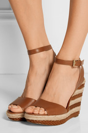 MICHAEL Michael Kors Kyla braided leather espadrille wedge sandals
