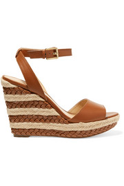 Kyla braided leather espadrille wedge sandals