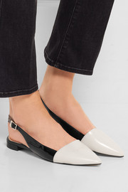 MICHAEL Michael Kors Claudia two-tone leather point-toe flats