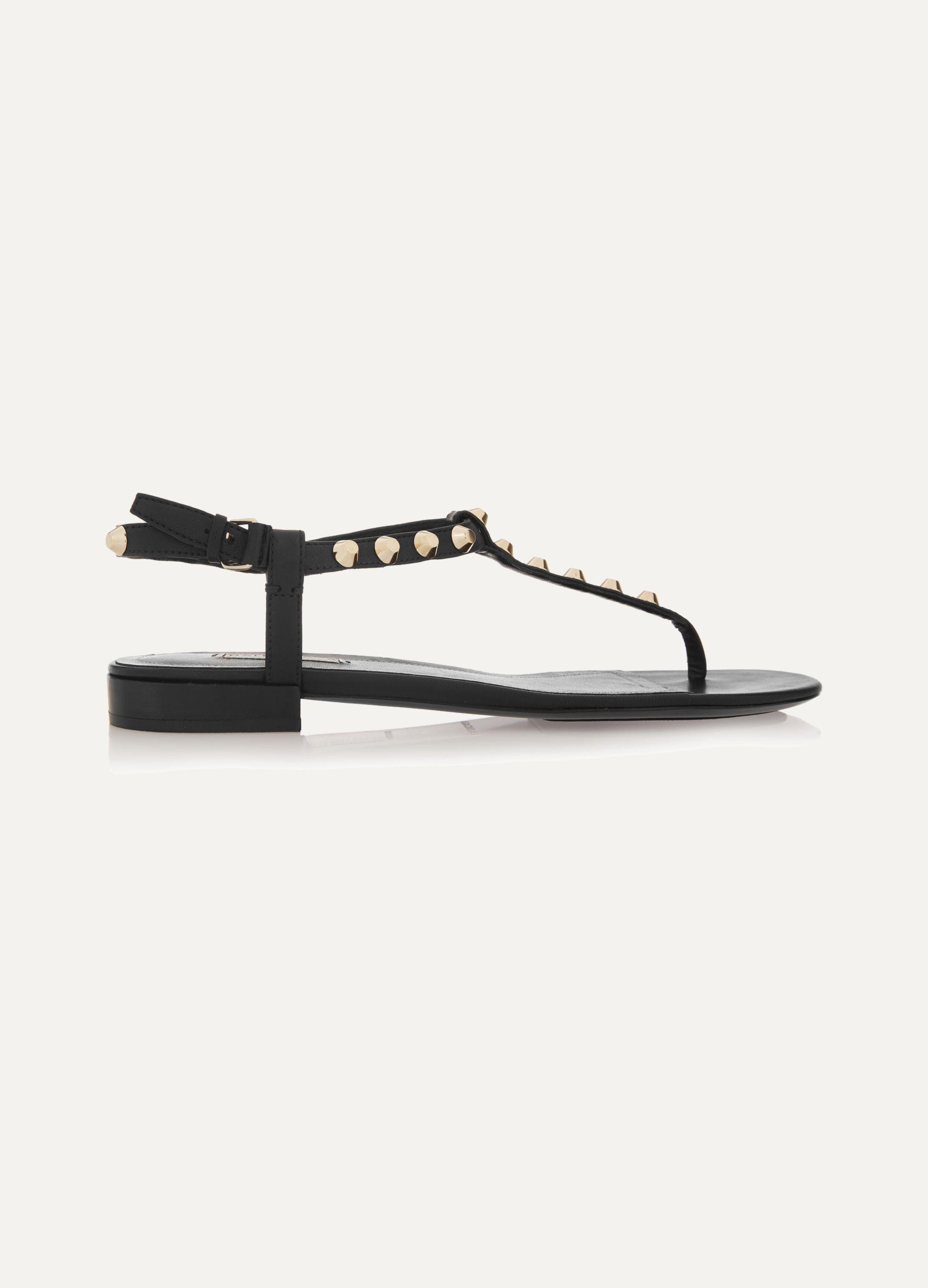 Black Studded leather sandals
