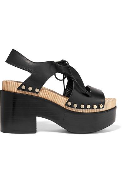 2a32de3b4b72 Balenciaga. Studded cutout leather platform sandals