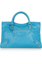Giant 12 City textured-leather tote