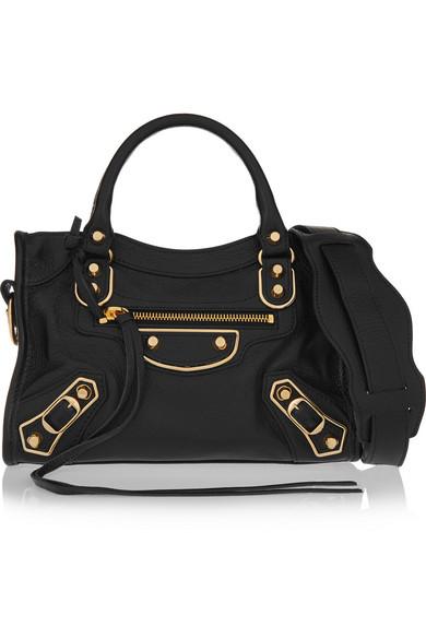 751a2ecda993 Balenciaga. Classic Metallic Edge City mini textured-leather shoulder bag