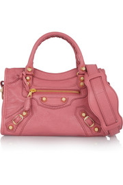 Giant 12 City mini textured-leather shoulder bag