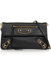 Balenciaga Classic Metallic Edge Envelope textured-leather shoulder bag