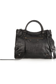Balenciaga Velo textured-leather shoulder bag