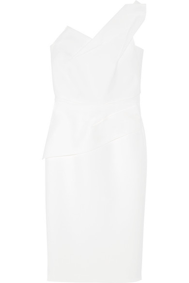 Roland Mouret Pernice Kleid aus Woll-Crêpe mit asymmetrischer Schulterpartie