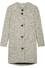 Wool-blend bouclé-tweed coat