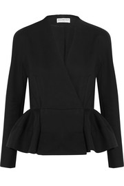 Cotton peplum jacket